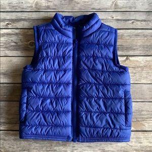 Crazy 8 Blue Baby Boy Puffer Vest size 6-12 Months